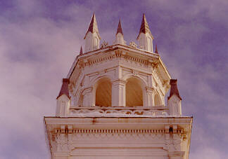 detail of the wooden steeple